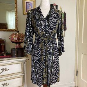 Issa London Banana Republic Zebra Kimono Dress 2